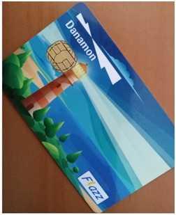 Deskripsi : Kartu Danamon Flazz merupakan e-money yang dapat digunakan untuk berbagai kebutuhan daily I Sumber Foto : Andri M
