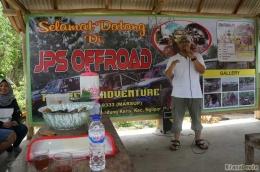 Perwakilan dari Dinas Pariwisata Gunung Kidul saat memberikan sambutan (Dokumentasi Pribadi)