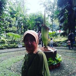 selfie dengan bunga bangkai (dok pribadi)