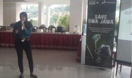 Minanti Putri saat berbagi cerita tentang kegiatan CSR Pertamina (dokpri)