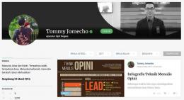 Halaman Profil Tommy Jomecho
