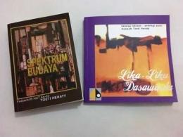 Dua buku yang diluncurkan pada perayaan 84 tahun Toeti Heraty. (Foto: BDHS)