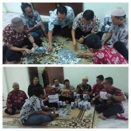 Teman-teman RSKO Jakarta ikut menghitung sendiri coin yang terkumpul di acara hari perhitungan coin RSKO (dokpri)