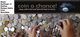 Contoh flyer yang digunakan di social media untuk mengajak teman2x untuk bersedekah coin (dokpri)