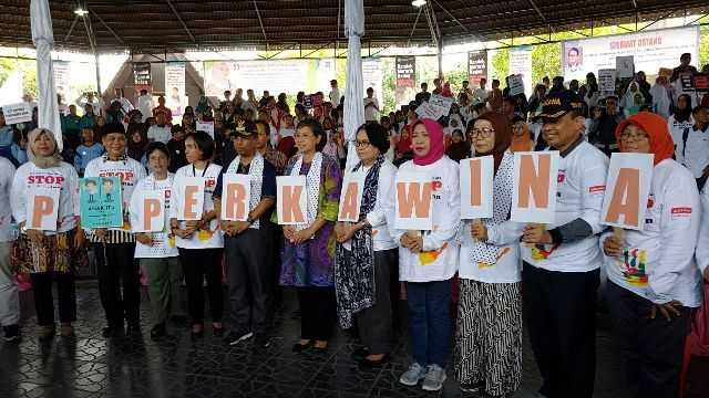 Deklarasi Gerakan Bersama Stoip Perkawinan Anak di Mataram, NTB.