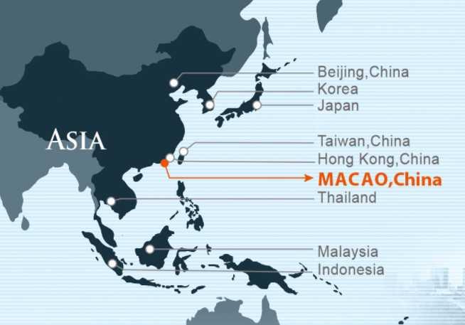 Peta Macao (screenshoot gastronomy.gov.mo)