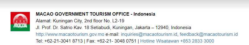 Screenshoot id.macaotourism.gov.mo/index.php