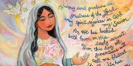 The Canticle of Mary. Sumber: jennortonartstudio.com