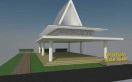 Maket pembangunan pendopo di Program Kampung Djanti Padhepokan berukuran 10 x 15 m untuk latihan tari, karawitan, teater. Dokumentasi Kampung Djanti Padepokan