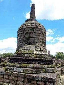Stupa yg mirip di Borobudur (dok. pribadi)