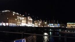 Sungai Elbe di malam hari. (dokpri)