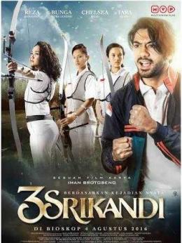 Poster Film 3 Srikandi (2016) (sumber: liputanenam.com)