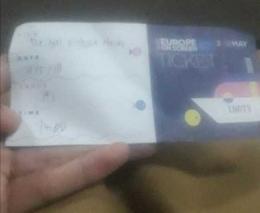 Tiketnya didapat dari mengantri, tidak bisa pesan online(dokpri)