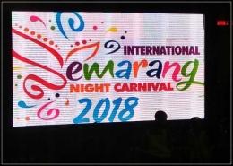Layar LED raksasa, persis di depan tribun 2. Sukses International SNC 2018 . Dokpri