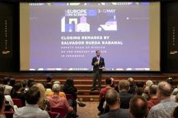 Kata sambutan oleh Salvador Rueda Rabanal (dok. Europe on Screen)
