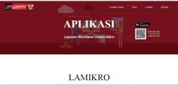 Tampilan website www.lamikro.com (www.lamikro.com)