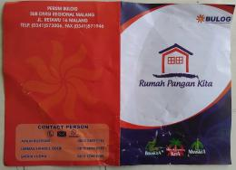 Brosur RPK BULOG Malang. Dok pribadi