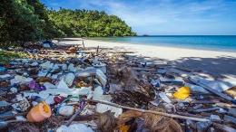 Sampah-sampah plastik yang menyatu dengan lautan dan pantai tentunya sangat berbahaya bagi biota laut. Foto dok. Ecomagzine