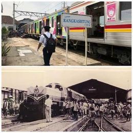 Stasiun Rangkasbitung dulu dan sekarang| Foto bawah: Museum Multatuli