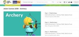 Tiket dan jadwal pertandingan cabang panahan bisa diakses di www.kiostix.com