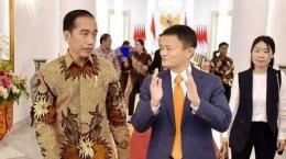 Jokowi dan Jack Ma di Istana Bogor (Tribunnews)