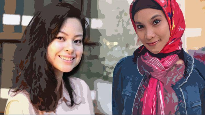 Gustika Hatta (kiri) versus Hanum Rais (kanan) [Diolah dari IDNtimes.com dan mediaindonesia.com]