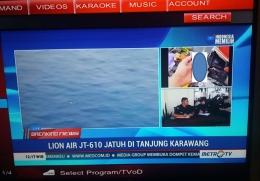 Televisi menyiarkan gambar kartu idnetitas (Dok Pribadi)