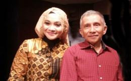Hanum dan Amien Rais/Diolah dari Dream.co.id