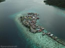 Pulau Papan dari Udara