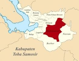Peta lokasi Kecamatan Habinsaran, Kabupaten Toba-Samosir (Foto: wikipedia.org)