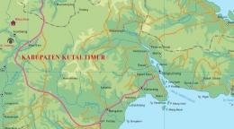 Peta Kabupaten Kutai Timur (Grafis : mhs.pin.or.id)