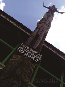 Lakeq Bilung Jau dan Atjuk Belareq sang penjaga (Foto : @kaekaha)