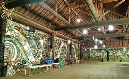 Interior Lamin Adat Lakeq Bilung Jau di Miau Baru (Foto : @kaekaha)