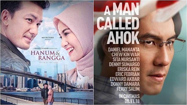Ilustrasi Film Hanum & Rangga dan A Man Called Ahok/sumber: Tagar.id