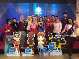 Saya bersama teman-teman blogger saat menghadiri peluncuran creative room di BBPLK Bekasi (Dokpri,16/11/18)