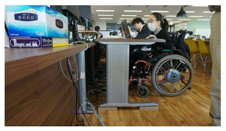 Seorang penyandang disabilitas (dok. Binapenta dan PKK Kemnaker)