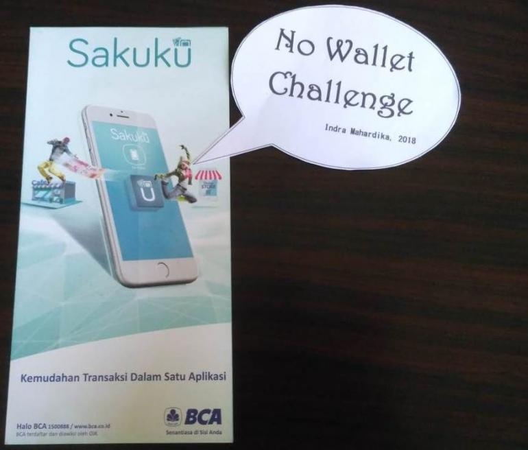 No Wallet Challenge, Tantangan Sehari Tanpa Dompet. Dokumentasi Pribadi