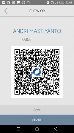 Deskripsi : QR Code identitas Pengguna I Sumber Foto : dokpri