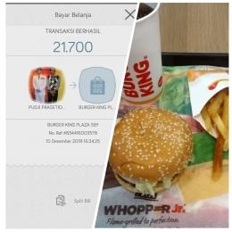 Pemanfaatan benefit promo dari Sakuku di merchant Burger King dengan harga sesuai promo yang tidak meleset sama sekali (Dok. Pribadi)