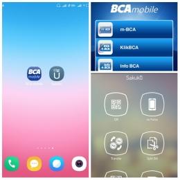 Aplikasi BCA Mobile dan Sakuku (Dok. Pribadi)