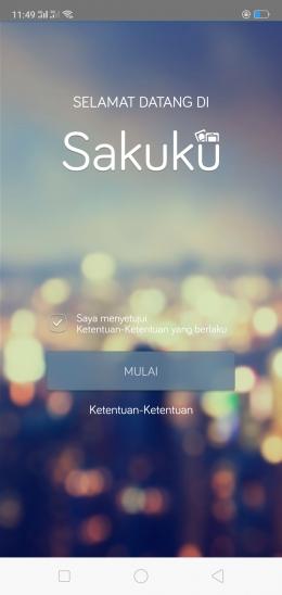 Deskripsi : Tampilan mula aplikasi SAKUKU I Sumber Foto : SAKUKU