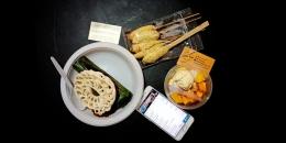 3 jenis menu makanan bayar pakai Sakuku. (Foto Ganendra)