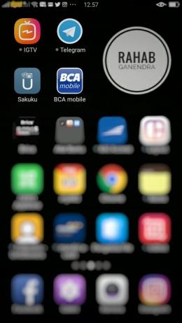 Aplikasi Sakuku dan m-bca di smartphone-ku. (Dokpri)