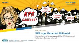 Program KPR Gaesss dari BTN untuk Milenial