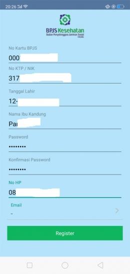 Deskripsi : Langkah awal ketika akan mendaftar JKN Mobile I Sumber Foto : dokpri