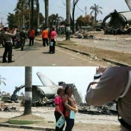 Lokasi Hercules jatuh di Medan (sumber: feed.merdeka.com)