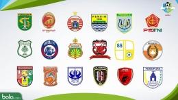 Kontestan Liga 1 2018 (grafis : bola.com)