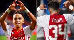 Abdekahdl Nouri, gelandang Ajax I Gambar : Sportbible