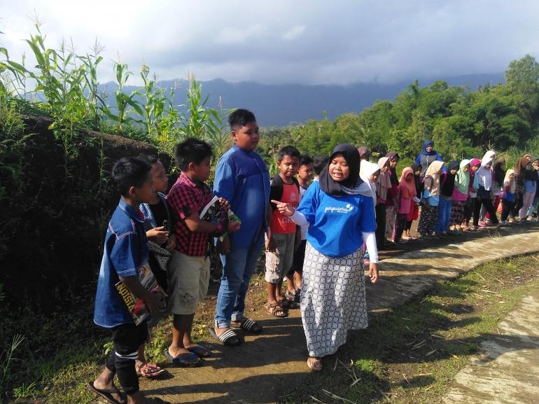 Pesta Literasi Anak Perbatasan Pegunungan Karangtunon
