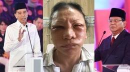 Kolase Jokowi Ratna Sarumpaet dan Prabowo (Foto: Tribun Medan)